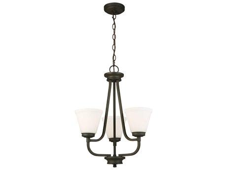 Eglo Mayview Matte Bronze Three-Light 19'' Wide Chandelier