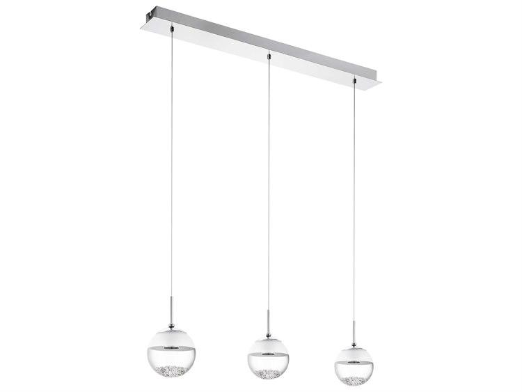 finest selection 4a2d6 cc8c6 Eglo Montefio Chrome Three-Light 34'' Long LED Island Light