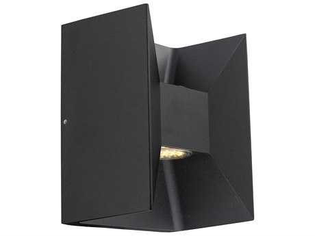 Eglo Morino Matte Black Two-Light LED Outdoor Wall Light