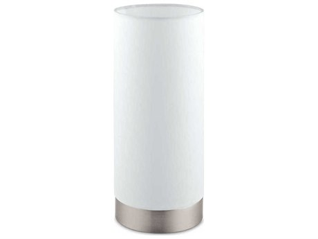 Eglo Pasteri Matte Nickel / White Table Lamp EGL95118A