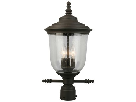 Eglo Pinedale Matte Bronze Three-Light Outdoor Post Light EGL202878A