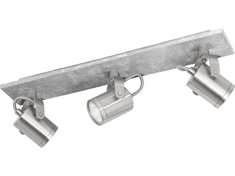 Eglo Praceta Concrete Grey / Matte Nickel Chrome 18'' Wide LED Track & Rail Light EGL95743A