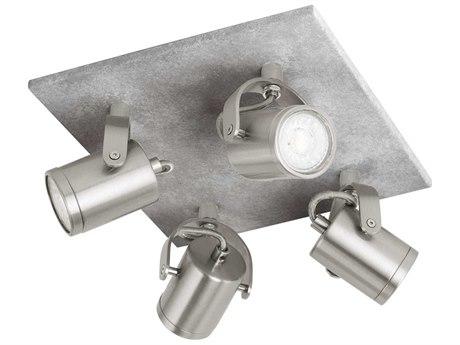 Eglo Praceta Concrete Grey / Matte Nickel Chrome 9'' Wide LED Track & Rail Light EGL95744A