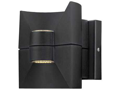 Eglo Redondo Black Two-Light LED Outdoor Wall Light EGL200882A