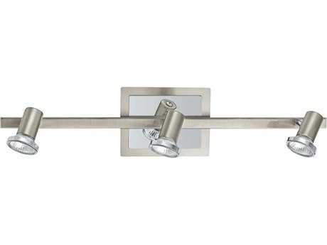 Eglo Rottelo Matte Nickel & Chrome Three-Light 23'' Long Track Light EGL20939A