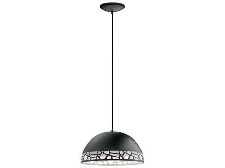 Eglo Savignano Matte Black & White 15'' Wide Pendant Light EGL97441A