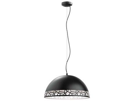 Eglo Savignano Matte Black & White 21'' Wide Pendant Light EGL97442A