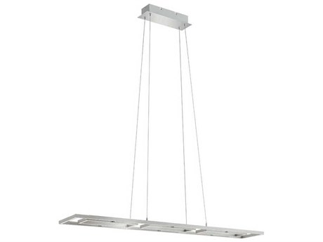 Eglo Tamasera Matte Nickel 47'' Wide LED Island Light EGL96816A