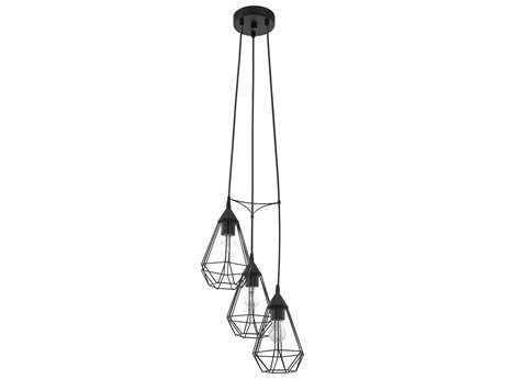 Eglo Tarbes Matte Black Three-Light 13'' Wide Pendant Light EGL94191A