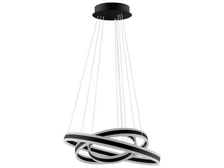 Eglo Tonarella Black / White 31'' Wide Pendant