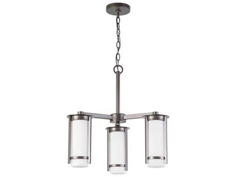 Eglo Truxton Graphite Three-Light 22'' Wide Chandelier