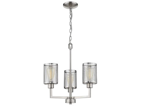 Eglo Verona Brushed Nickel 18'' Wide Industrial Mini Chandelier EGL203468A