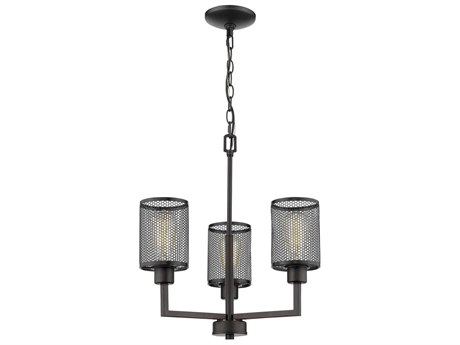 Eglo Verona Oil Rubbed Bronze 18'' Wide Industrial Mini Chandelier EGL203469A