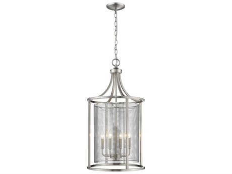 Eglo Verona Brushed Nickel Four-Light 18'' Wide Pendant Light