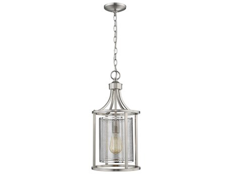 Eglo Verona Brushed Nickel 10'' Wide Pendant Light