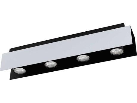 Eglo Viserba Aluminum / Black 21'' Wide LED Track & Rail Light EGL97397A