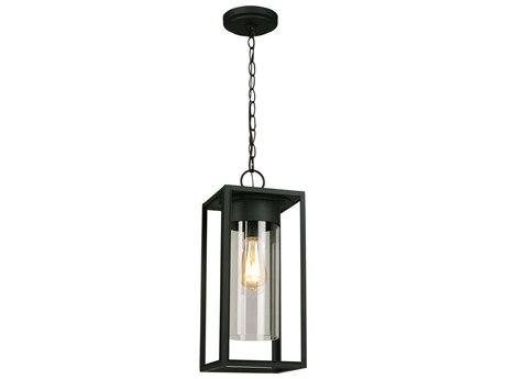 Eglo Walker Hill Matte Black 7'' Wide Outdoor Hanging Light