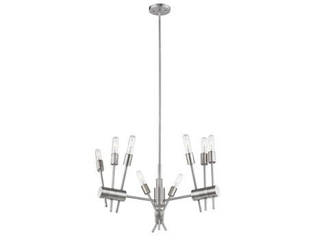 Eglo Willsboro Polished Nickel 28'' Wide Industrial Medium Chandelier EGL203721A
