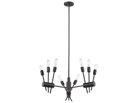 Eglo Willsboro Bronze 28'' Wide Industrial Medium Chandelier EGL203722A