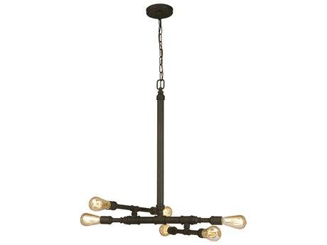 Eglo Wymer Matte bronze Six-Light 23'' Wide Pendant Light EGL202834A