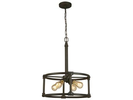 Eglo Wymer Matte Bronze Four-Light 19'' Wide Pendant Light EGL202845A