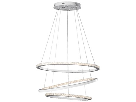 Elan Allos Flat White 435-Light 36'' Wide Cool White LED Pendant Light ELA83405