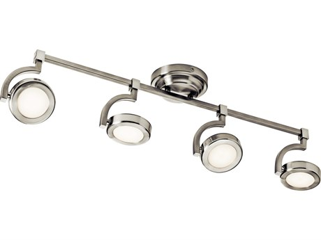 Elan Andlos Brushed Nickel Four-Light 32'' Wide LED Rail Light ELA83382