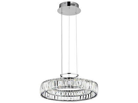 Elan Annette Chrome 18'' Wide LED Pendant Light ELA83624