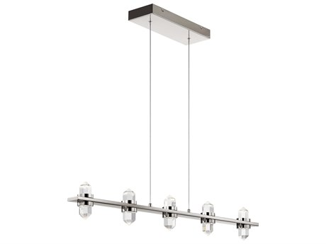Elan Arabella Polished Nickel Five-Light 37'' Wide LED Island Light ELA84067