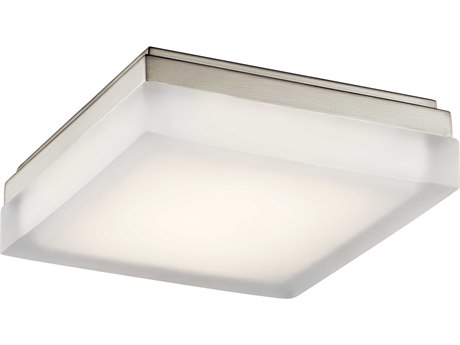 Elan Arston Brushed Nickel 9'' Wide LED Flush Mount ELA83799