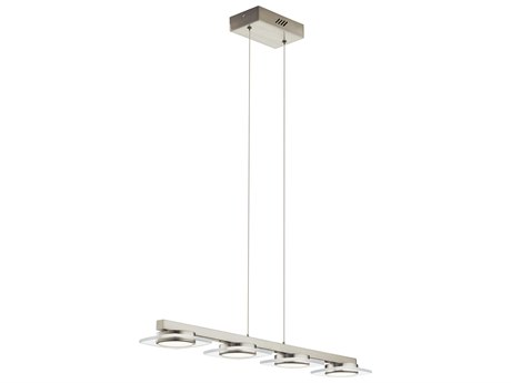 Elan Azenda Brushed Nickel Four-Light 34'' Wide LED Island Light ELA83945