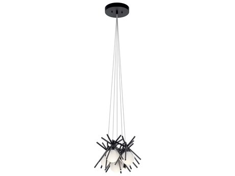 Elan Beale Matte Black Five-Light 14'' Wide LED Pendant Light ELA84061