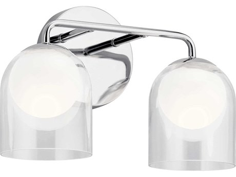 Elan Beryl Chrome Two-Light 15'' Wide LED Vanity Light ELA84058