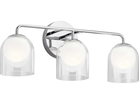 Elan Beryl Chrome Three-Light 24'' Wide LED Vanity Light ELA84059