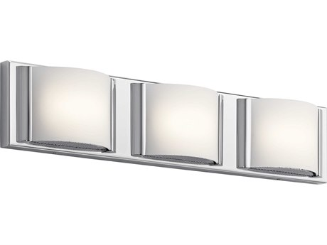 Elan Bretto Chrome Three-Light 23'' Wide LED Vanity Light ELA83819