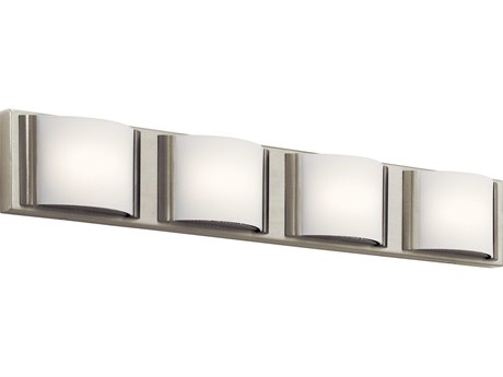 Elan Bretto Brushed Nickel Four-Light 30'' Wide LED Vanity Light ELA83820