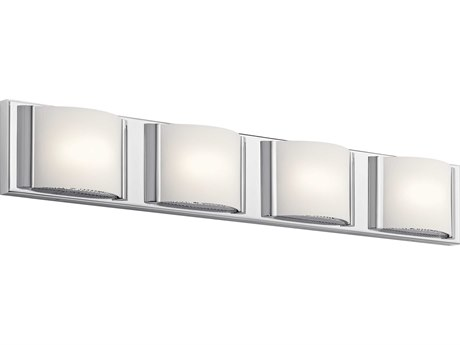 Elan Bretto Chrome Four-Light 30'' Wide LED Vanity Light ELA83821