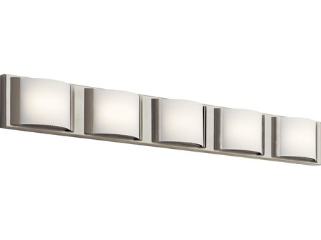 Elan Bretto Brushed Nickel Five-Light 37'' Wide LED Vanity Light ELA83822