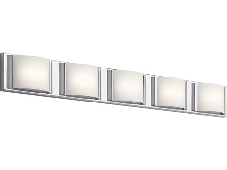 Elan Bretto Chrome Five-Light 37'' Wide LED Vanity Light ELA83823