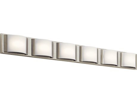 Elan Bretto Brushed Nickel Six-Light 45'' Wide LED Vanity Light ELA83887