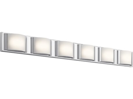 Elan Bretto Chrome Six-Light 45'' Wide LED Vanity Light ELA83888