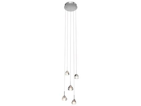 Elan Eisa Chrome Five-Light 12'' Wide Pendant Lights ELA83047