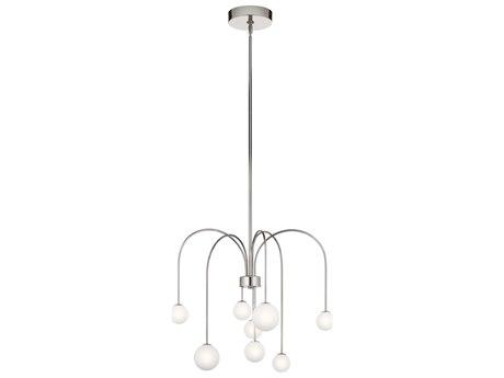Elan Rain Polished Nickel Eight-Light 26'' Wide LED Pendant Light