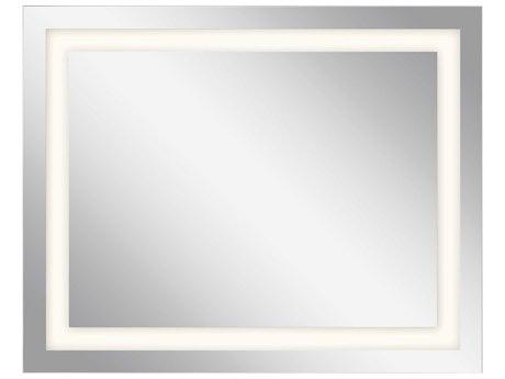 Elan Frosted 30''W x 24''H Rectangular LED Backlit Wall Mirror ELA83994