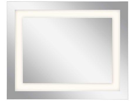 Elan Frosted 40''W x 32''H Rectangular LED Backlit Wall Mirror ELA83995