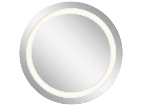 Elan Frosted 34'' Wide Round LED Backlit Wall Mirror ELA83996