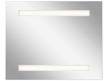 Elan Frosted 32''W x 26''H Rectangular LED Backlit Wall Mirror with Soundbar ELA83999