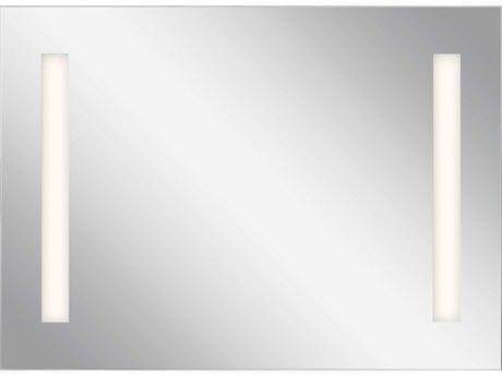Elan Frosted 36''W x 26''H Rectangular LED Backlit Wall Mirror with Soundbar ELA84000