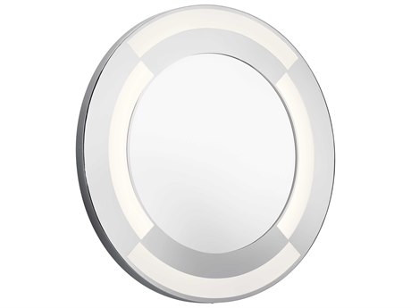 Elan Frosted / White Acrylic 30'' Round Lighted Wall Mirror ELA84043