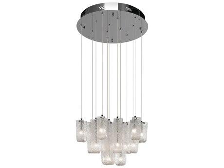 Elan Zanne Chrome 15-Light 25'' Wide Pendant Light ELA83094